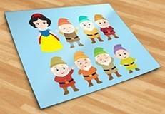 Kinderzimmer Wandtattoo: Kit Schneewittchen und die sieben Zwerge 5