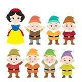 Kinderzimmer Wandtattoo: Kit Schneewittchen und die sieben Zwerge 4