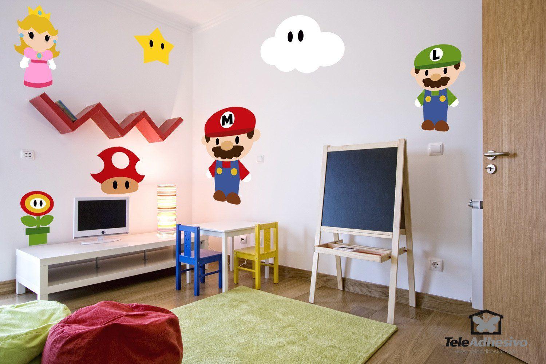 Kinderzimmer Wandtattoo: Kit Mario Bros