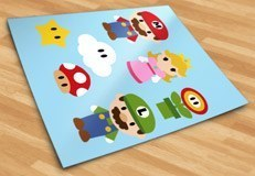Kinderzimmer Wandtattoo: Kit Mario Bros 5