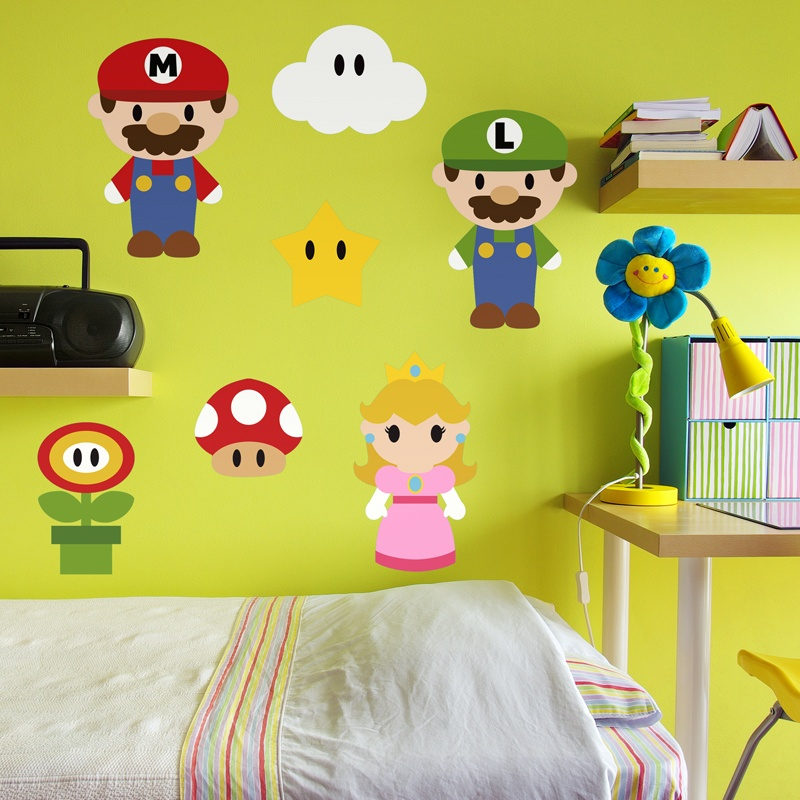Kinderzimmer Wandtattoo: Kit Mario Bros