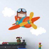Kinderzimmer Wandtattoo: Flugzeug in den Wolken 3