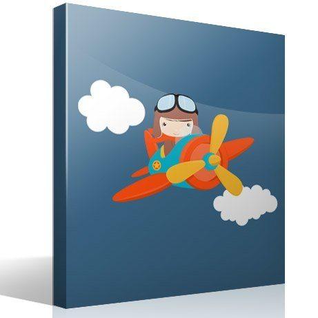 flugzeug in den wolken - Kinderzimmer Flugzeug