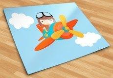 Kinderzimmer Wandtattoo: Flugzeug in den Wolken 5