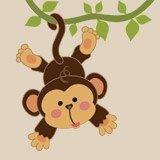 Kinderzimmer Wandtattoo: Affe hängt am Rebstock 3