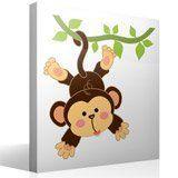 Kinderzimmer Wandtattoo: Affe hängt am Rebstock 4