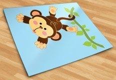 Kinderzimmer Wandtattoo: Affe hängt am Rebstock 5