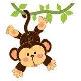 Kinderzimmer Wandtattoo: Affe hängt am Rebstock 6