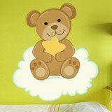 Kinderzimmer Wandtattoo: Bär mit Sternen auf der Wolke sitzen 3