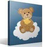 Kinderzimmer Wandtattoo: Bär mit Sternen auf der Wolke sitzen 4
