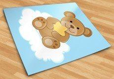 Kinderzimmer Wandtattoo: Bär mit Sternen auf der Wolke sitzen 5
