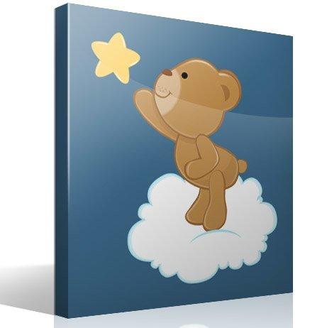 Kinderzimmer Wandtattoo: Bär fängt einen fallenden Stern