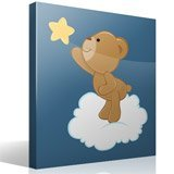 Kinderzimmer Wandtattoo: Bär fängt einen fallenden Stern 4