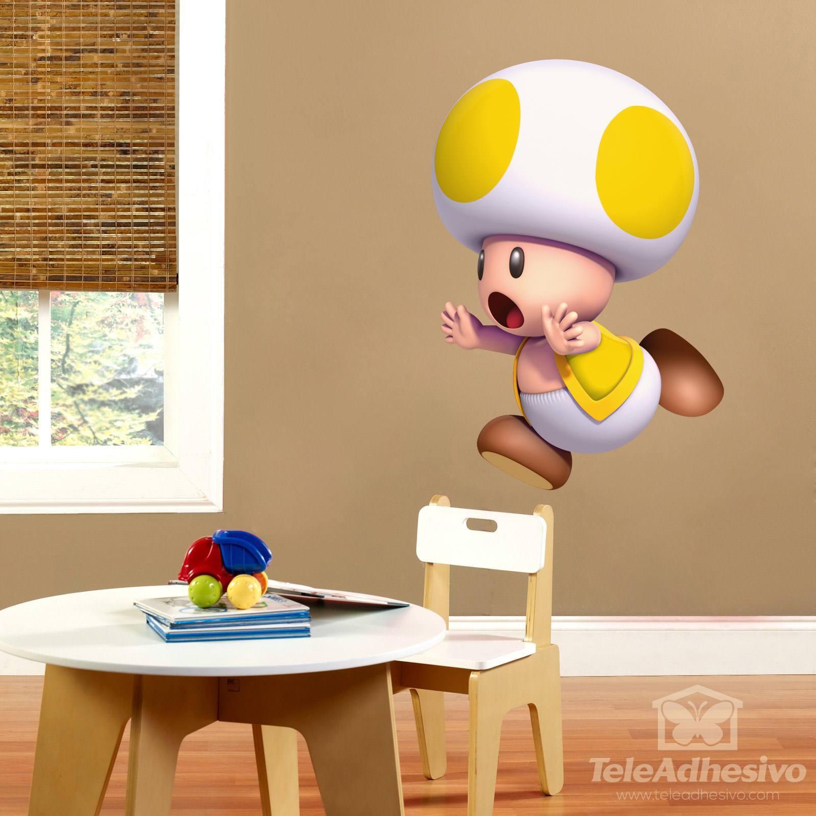 Kinderzimmer Wandtattoo: Gelb Toad
