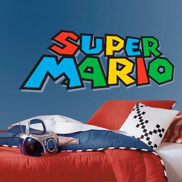 Wandtattoo kinder Super Mario Spiel | WebWandtattoo.com