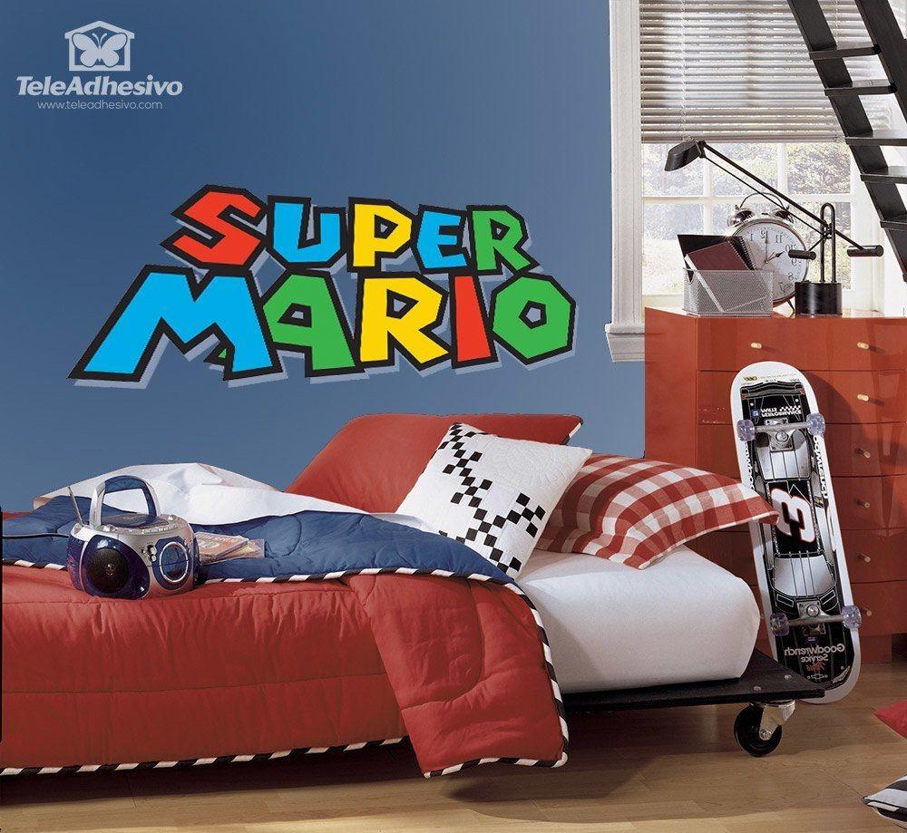kinderzimmer wandtattoo super mario game. Black Bedroom Furniture Sets. Home Design Ideas