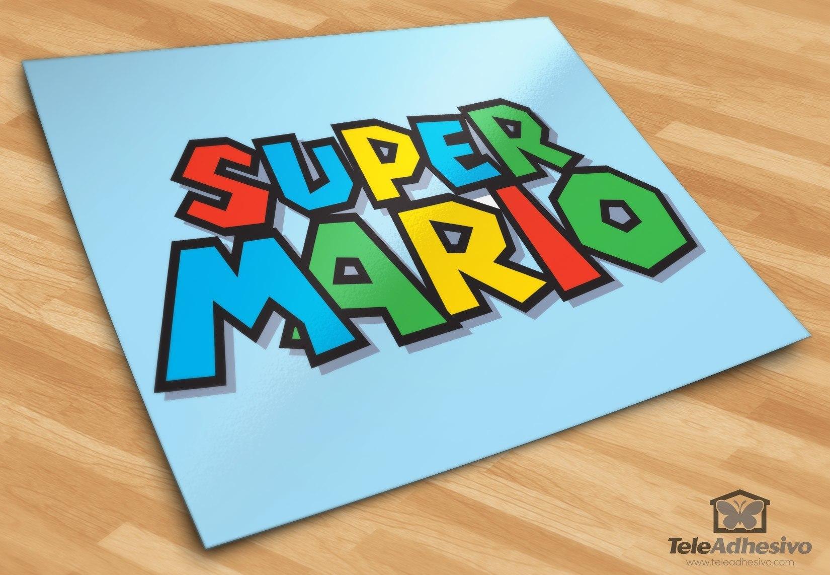 Wandtattoo kinder Super Mario Spiel   WebWandtattoo.com