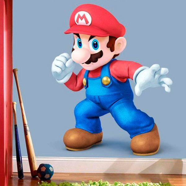 Wandtattoo kinder Super Mario   WebWandtattoo.com