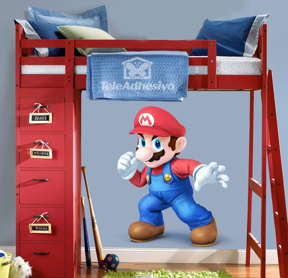 kinderzimmer wandtattoo super mario faust. Black Bedroom Furniture Sets. Home Design Ideas