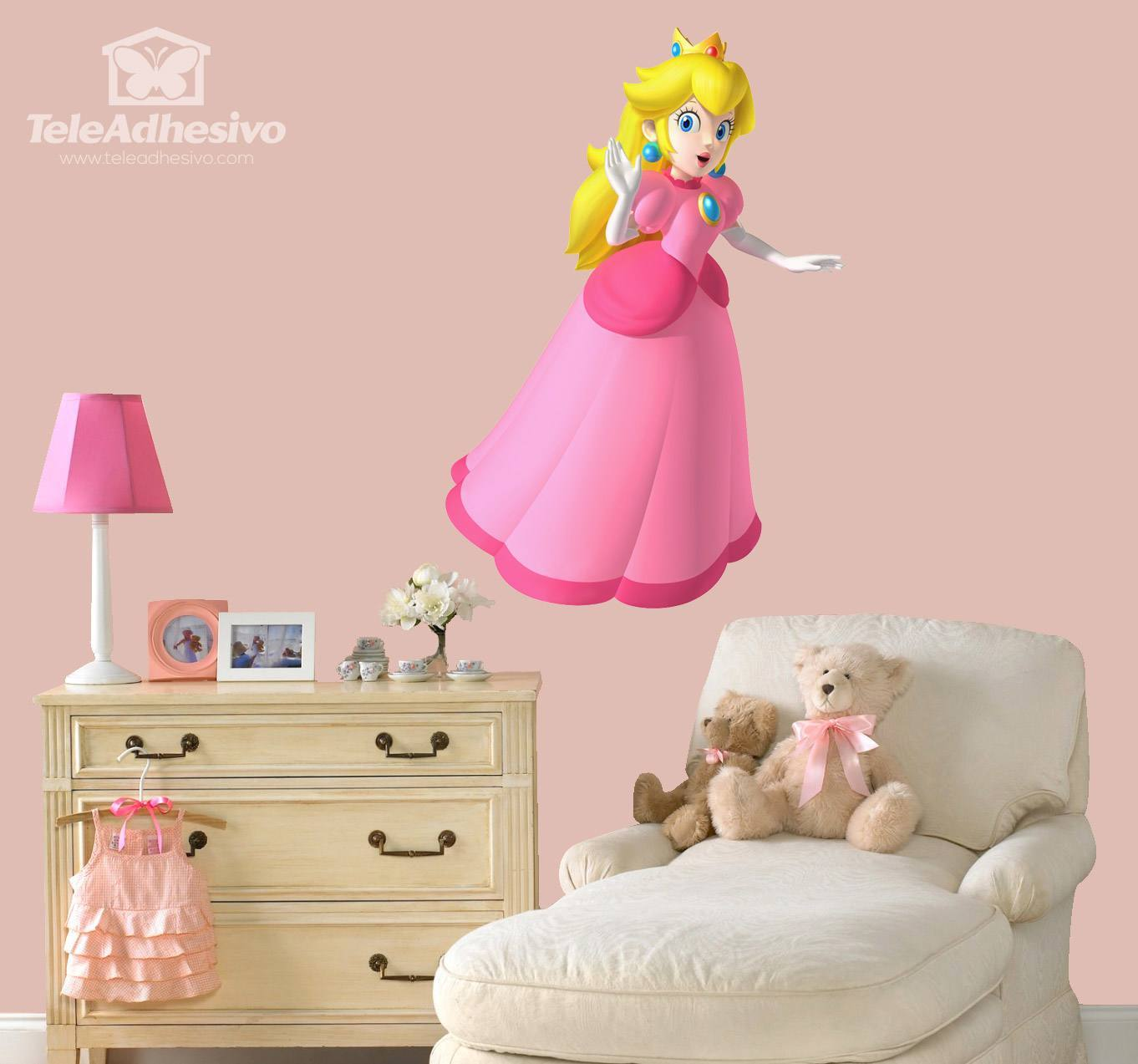 Kinderzimmer Wandtattoo: Princess Peach