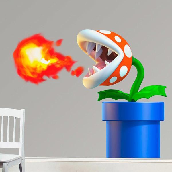 Wandtattoo kinder Piranha-Pflanze von Mario Bros ...