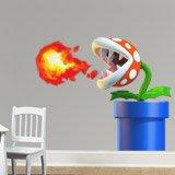 Kinderzimmer Wandtattoo: Piranha Pflanze spuckt Feuer 3