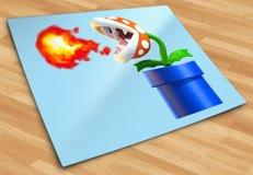 Kinderzimmer Wandtattoo: Piranha Pflanze spuckt Feuer 5
