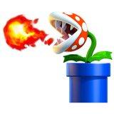 Kinderzimmer Wandtattoo: Piranha Pflanze spuckt Feuer 6