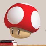 Kinderzimmer Wandtattoo: Mario mushroom 3