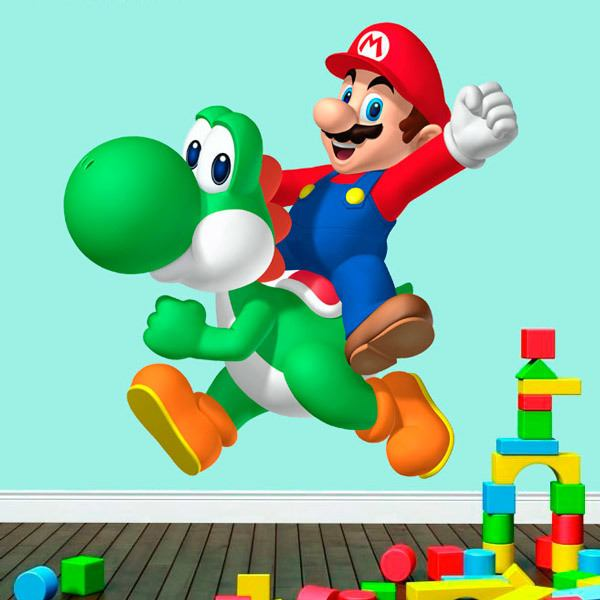 wandtattoo kinder mario und yoshi. Black Bedroom Furniture Sets. Home Design Ideas