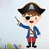 Kinderzimmer Wandtattoo: Die kleinen Piraten Pistole 1