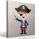 Kinderzimmer Wandtattoo: Die kleinen Piraten Pistole 2