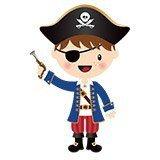 Kinderzimmer Wandtattoo: Die kleinen Piraten Pistole 4