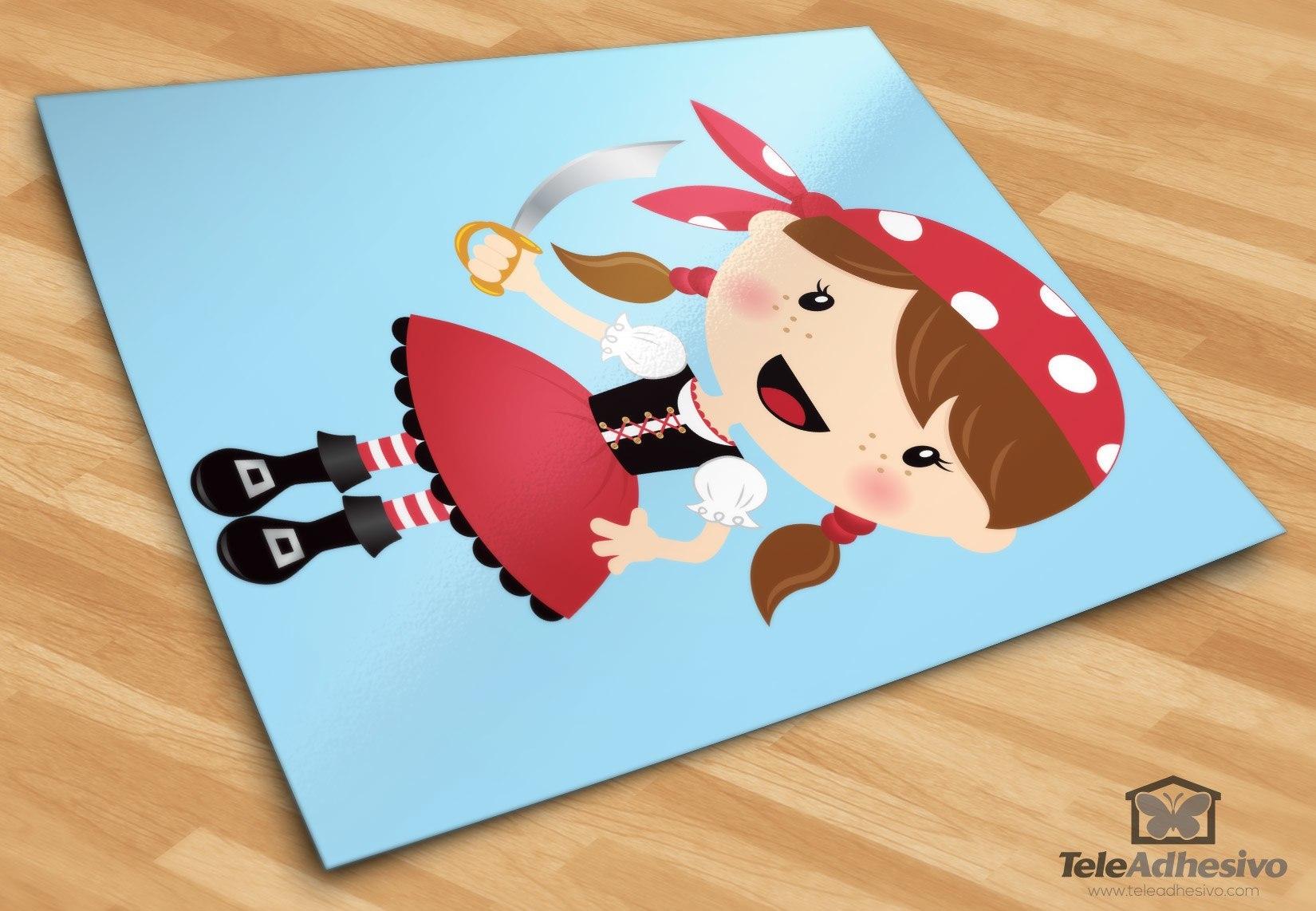 Kinderzimmer Wandtattoo: Der kleine Korsar Schwert