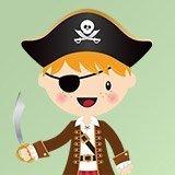 Kinderzimmer Wandtattoo: Die kleinen Piraten Schwert 3