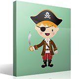 Kinderzimmer Wandtattoo: Die kleinen Piraten Schwert 4