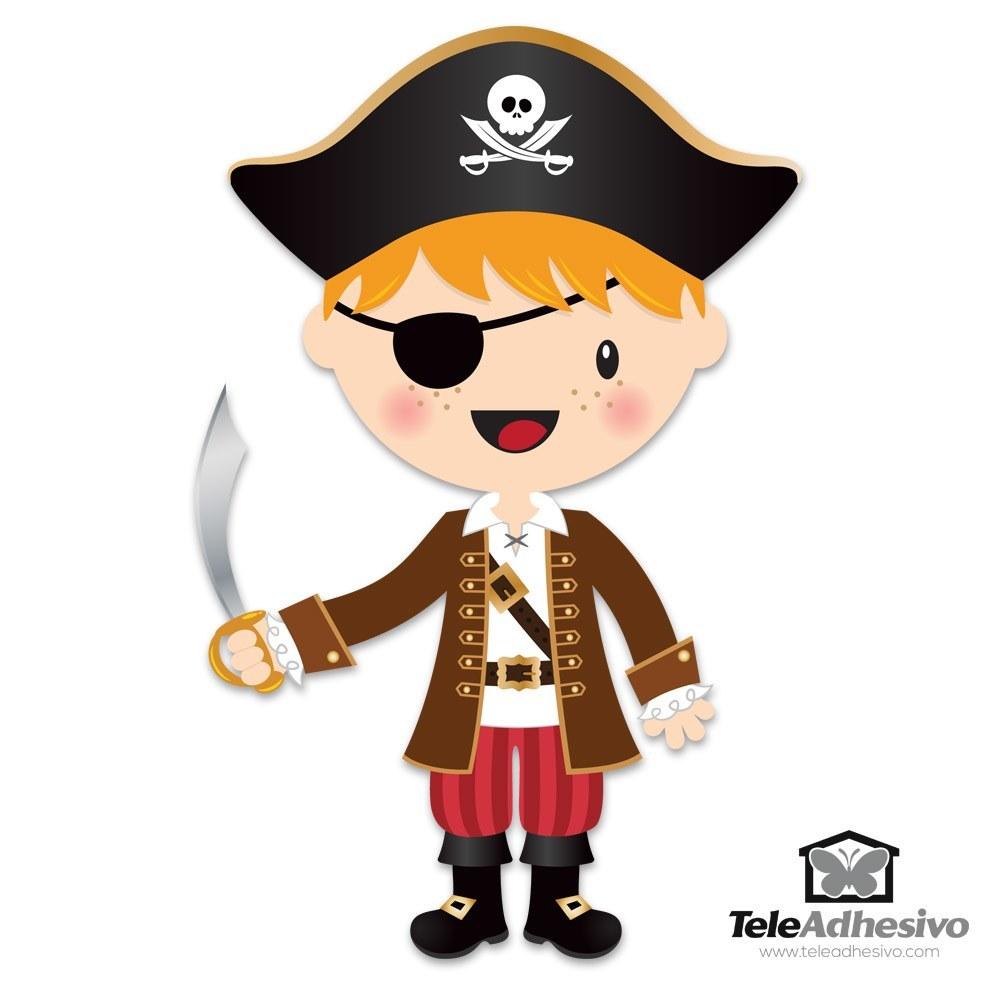 Kinderzimmer Wandtattoo: Die kleinen Piraten Schwert