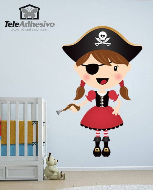 Kinderzimmer Wandtattoo: Der kleine Pirat Gewehr 1