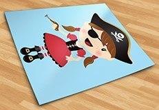 Kinderzimmer Wandtattoo: Der kleine Pirat Gewehr 3