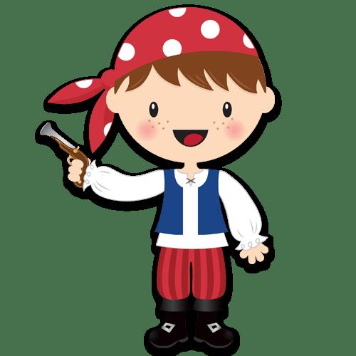 Kinderzimmer Wandtattoo: Der kleine Korsar Gewehr