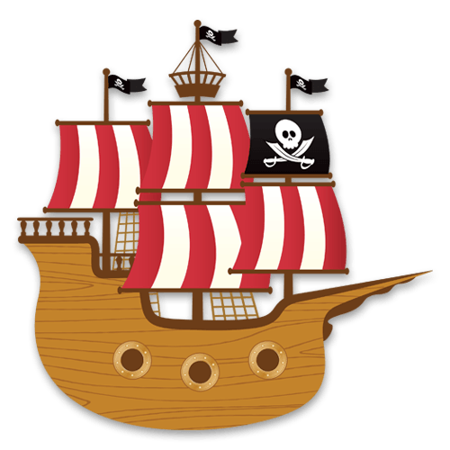Kinderzimmer Wandtattoo: Kleine Piratenboot