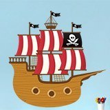 Kinderzimmer Wandtattoo: Kleine Piratenboot 3