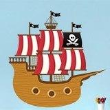 Kinderzimmer Wandtattoo: Kleine Piratenboot 3