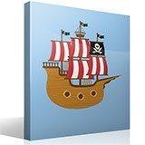 Kinderzimmer Wandtattoo: Kleine Piratenboot 4