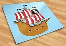 Kinderzimmer Wandtattoo: Kleine Piratenboot 5
