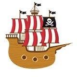 Kinderzimmer Wandtattoo: Kleine Piratenboot 6