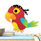 Kinderzimmer Wandtattoo: Papagei pirat 3
