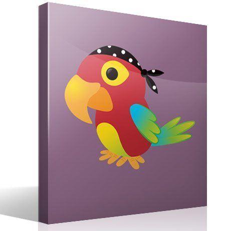 Kinderzimmer Wandtattoo: Papagei pirat