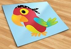 Kinderzimmer Wandtattoo: Papagei pirat 5