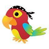 Kinderzimmer Wandtattoo: Papagei pirat 6